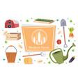 set garden and farm tools gardening equipment vector image