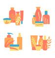set of designs organic cosmetics vector image
