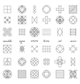 Set of geometric hipster shapes45 vector image vector image