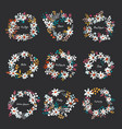 set of nice wreath vector image vector image