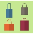 Set of Shopping Bags Icons vector image