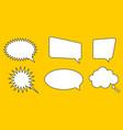 set speak bubble chatting box message box vector image