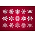 set various fine lace snowflakes for christmas vector image vector image