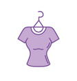 silhouette shopping clothes in the market with vector image vector image
