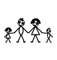 Soccer stick family vector image vector image