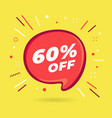 special offer sale red bubble 60 percent discount vector image vector image