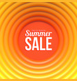 summer sale banner abstract background with hot vector image vector image