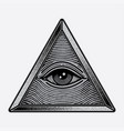 symbol eyes triangle logo vector image