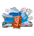 travel service concept vector image vector image