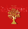 tree life christmas and happy new year theme vector image vector image
