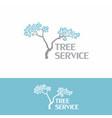 tree service landscape vintage logo vector image vector image