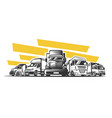 truck logo cargo delivery vector image vector image