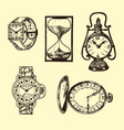 vintage classic pocket watch alarm clock vector image vector image