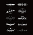 vintage logo insignia and badges vector image