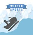 winter sports design vector image vector image