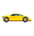 yellow race car racing rally vehicle speed vector image vector image