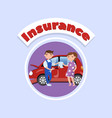 young woman repairing injured car at car service vector image vector image