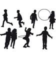 children indulge vector image
