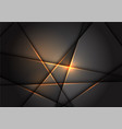 abstract gold line light polygon on grey vector image
