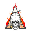 ace skull vector image vector image