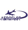 aeroflot vector image vector image