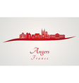 Angers skyline in red vector image vector image
