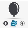 Balloon sign icon Birthday air balloon vector image vector image