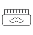 barber gel thin line icon container and barber vector image vector image
