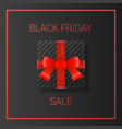 black friday sale background with gift box and vector image vector image