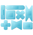 Blue plasters vector image vector image