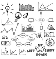 business finance doodle hand drawn elements vector image vector image