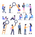business freelance people casual character set vector image