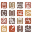 buttons with images of kitchen home appliances vector image vector image