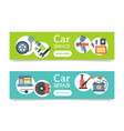 car repair station banner mechanic vehicle auto vector image vector image