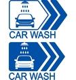 car wash icon with arrow vector image vector image
