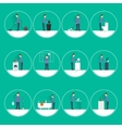 Cleaning people flat vector image vector image