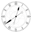 clock circle black vector image vector image