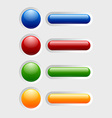 Colorful glossy buttons vector image vector image