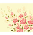 Colorful rose flowers background vector image vector image