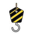 crane hook isolated icon vector image