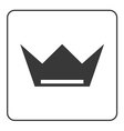 Crown icon flat sign vector image