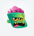 cute happy zombie head cartoon character vector image vector image