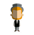 cute man cartoon standing formal clothes character vector image