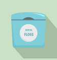 dental floss box icon flat style vector image vector image