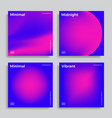 design template with vibrant gradient shapes vector image