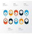 dress colorful outline icons set collection of t vector image vector image