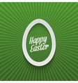easter realistic paper egg label with type vector image