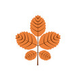 five branch autumn leaves symbol graphic design vector image vector image