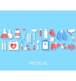 flat medicine equipment set icon concept on vector image vector image