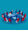 global business meeting concept business vector image